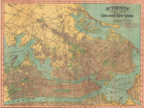 map of greater new york authentic plan of greater new york geographicus