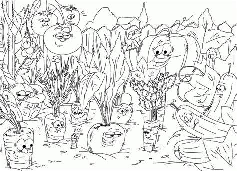 Vegetable Garden Coloring Pages Vegetables Coloring Pages For Kids Az Coloring Pages