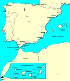 Malaga Spain Map by Malaga Spain Discount Cruises Last Minute Cruises