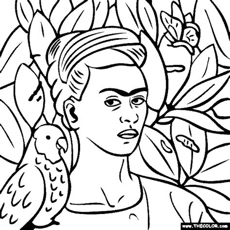 frida kahlo free coloring pages