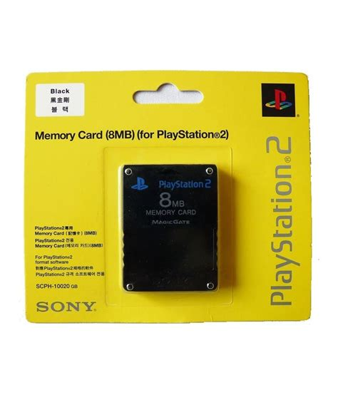 Memori Card Ps2 16mb Hitam sony playstation 2 ps2 memory card 8mb brand new factory