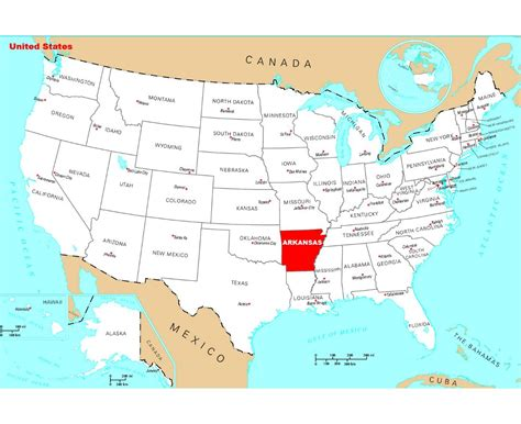 united states map showing arkansas maps of arkansas state collection of detailed maps of