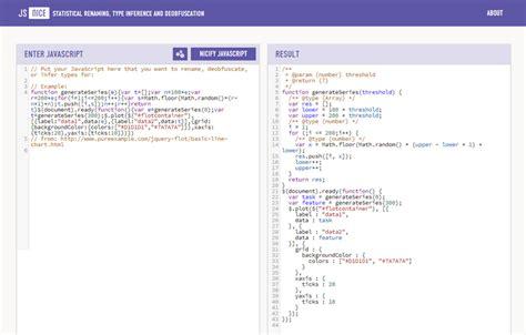 javascript program layout js nice statistical de obfuscation de minification