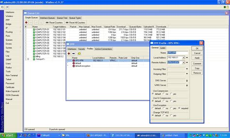 membuat vpn server mikrotik konfigurasi vpn server di mikrotik networking