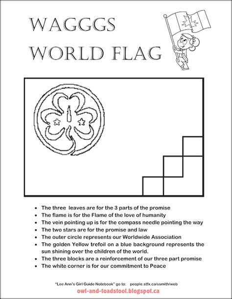 flag coloring pages with key free girl scout trefoil coloring pages
