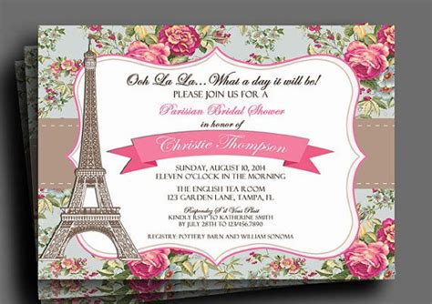 vintage floral parisian party invitation printable