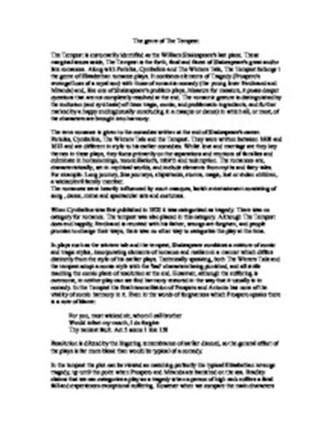 Tempest Essay by Tempest Essay Introduction Writefiction581 Web Fc2