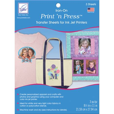 best printable iron on transfer paper print n press iron on transfer paper 8 5ins x 11ins set