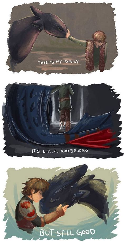 nice crossover fan art hiccup toothless