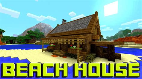 how to build a beach house in minecraft minecraft how to build a beach house tutorial simple