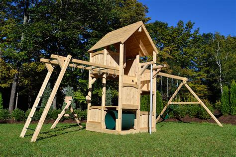swing set with rock climbing wall cedar swing sets canterbury climber by triumph play systems