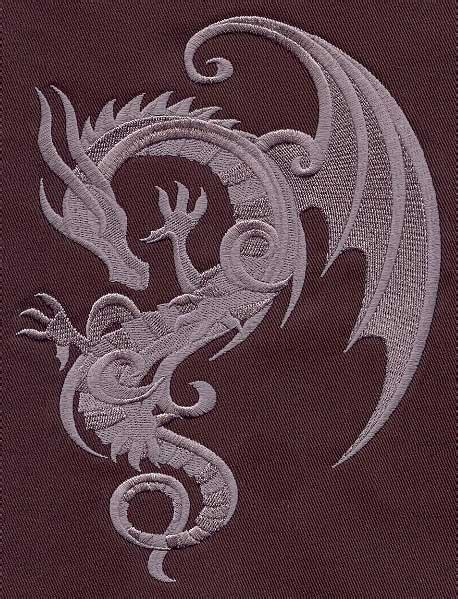 embroidery design dragon baroque punk dragon urban threads unique and awesome