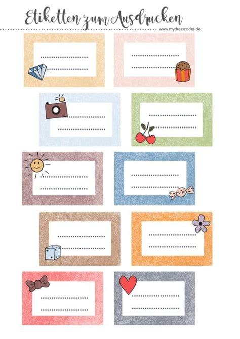 Etiketten Drucken Word Verschiedene Adressen by Etiketten Zum Ausdrucken Handmade Kultur