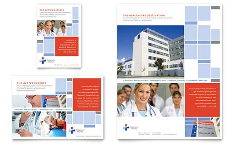 download microsoft word template hospital flyer amp ad template design