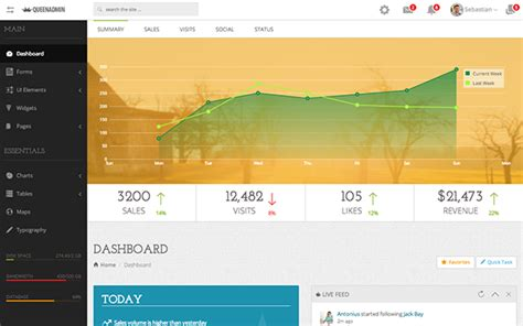 templates bootstrap beautiful queenadmin beautiful admin dashboard bootstrap