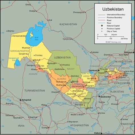 uzbekistan on a world map republic of uzbekistan