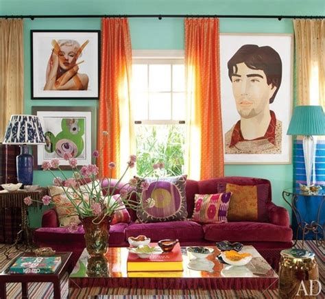 12 colorful interiors by sig bergamin architecture mint walls a purple sofa and tangerine drapes colorful