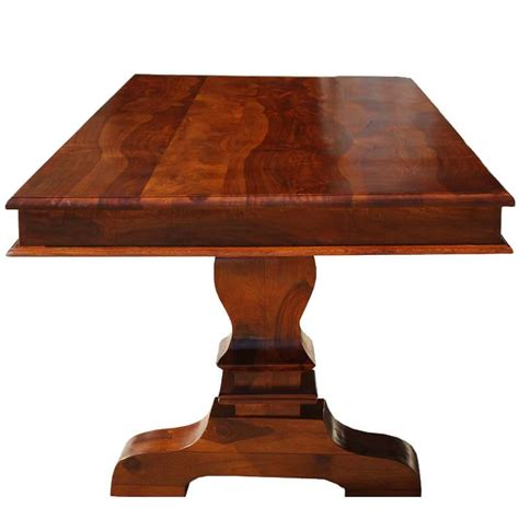 pedestal rectangle dining table tiraspol solid wood trestle pedestal large rectangle