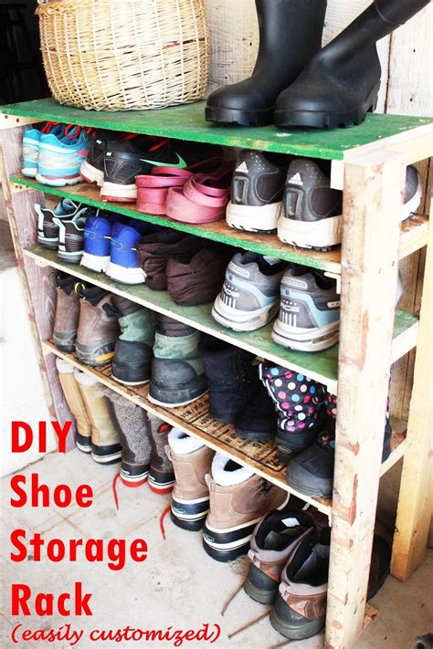 diy shoe shelves diy shoe storage shelves for garage an easy fast and versatile project