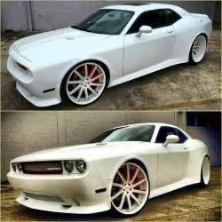 2013 white on white dodge challenger on 26 s big rims
