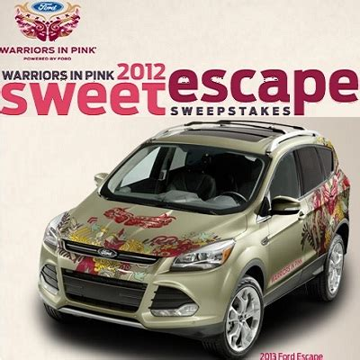 ford care 2012 sweet escape sweepstakes sweepstakesbible - Fordcares Com Sweepstakes