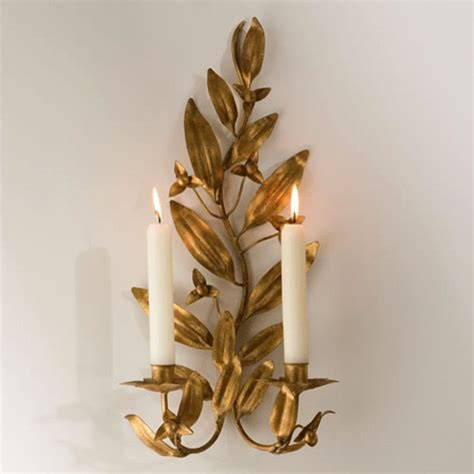 Leaf Candle Sconce gold leaf candle sconce traditional wall sconces los angeles by julie thigpen
