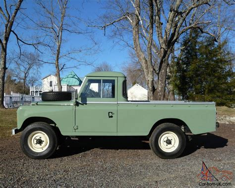 land rover small series 3 109 pick up truck ex mod land rovers