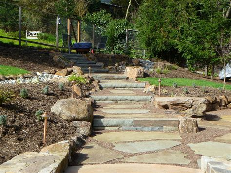 Uphill Backyard Landscaping by Hillside Project Completed