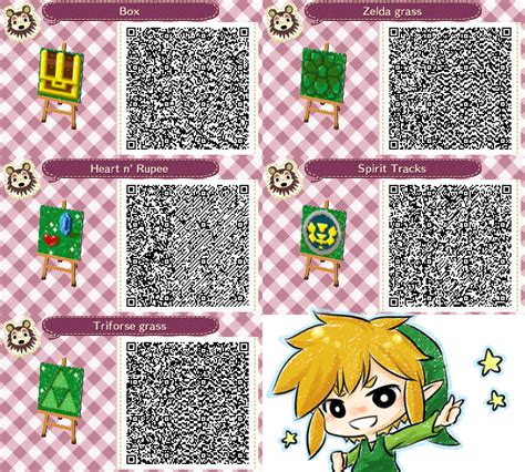 animal crossing new leaf qr code hairstyle animal crossing loz s qr code by princeofredroses on