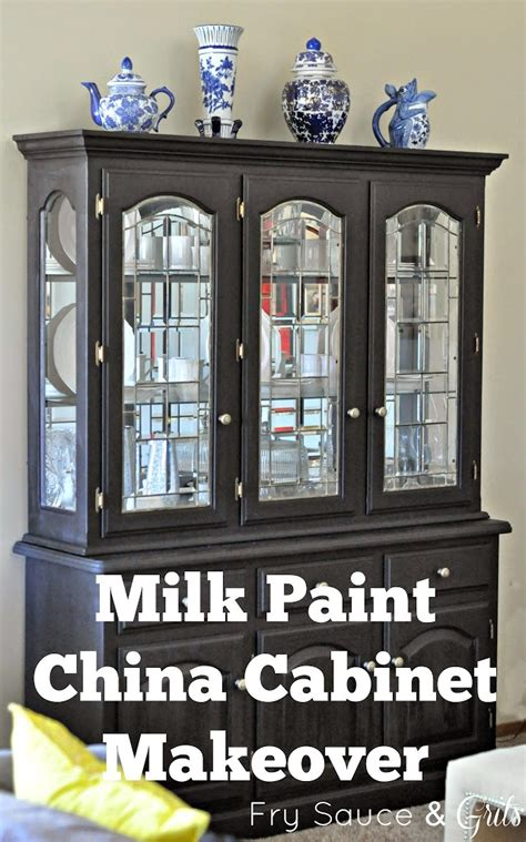 Painting China Hutch Miss Mustard Seed Milk Paint China Cabinet Makeover