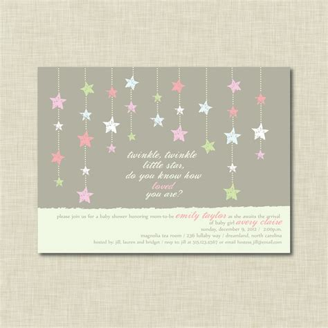 Twinkle Baby Shower Invitations by Chandeliers Pendant Lights
