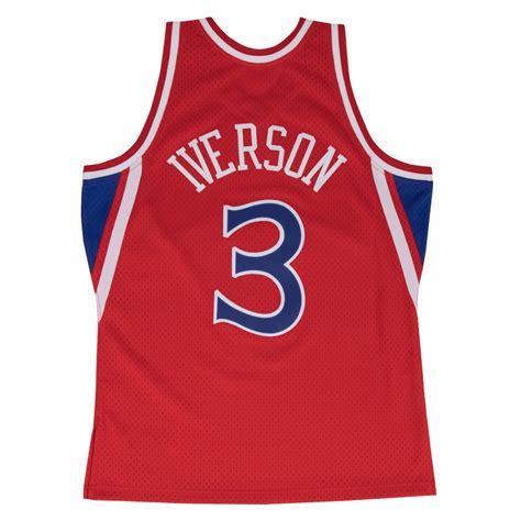 swing man jersey swingman jersey allen iverson 3 royal red basket4ballers