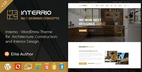 design menu in wordpress interrio wordpress theme for architecture construction