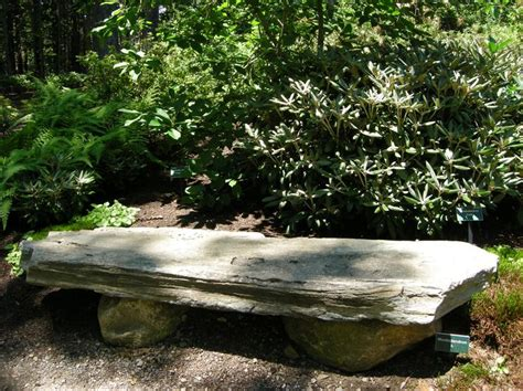 natural stone benches for garden rustic stone bench in a woodland at the coastal maine