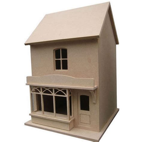 bromley dolls house small victorian style dolls house shop unpainted kit 1 24 scale dhw58