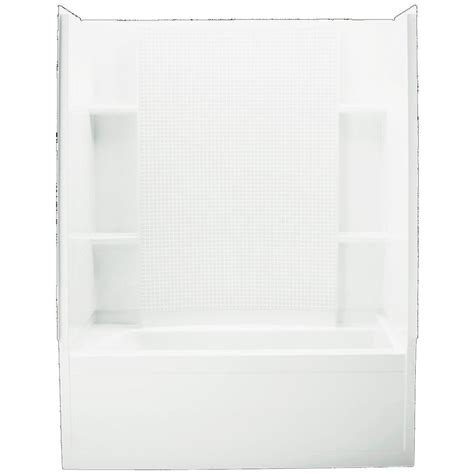 sterling bath shower sterling accord 32 in x 60 in x 74 in standard fit shower kit in white 71150120 0 the home