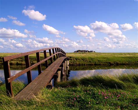 Single Plank Bridge Wallpaper 1280x1024 German Landscape Single