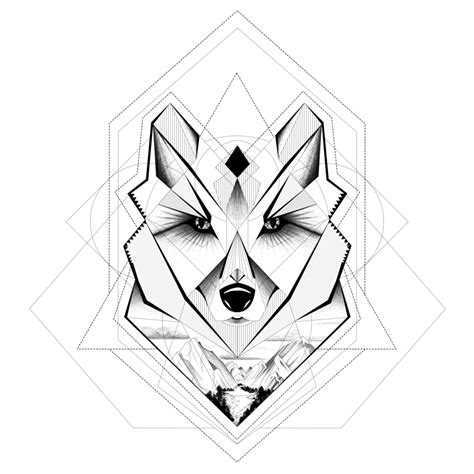 tattoo geometric png my geometric wolf by everlastinglace on deviantart