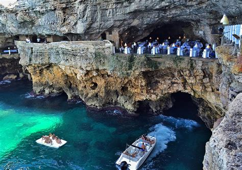 grotta palazzese hotel grotta palazzese a restaurant in a cave with an