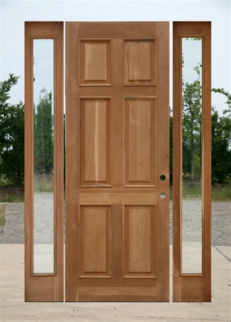 Oak Exterior Doors 8 0 Oak Exterior Door With Two Sidelights