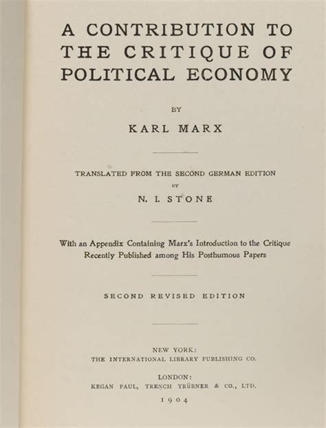 three contributions to the theory of books karl marx contribution to the critique of political