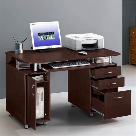 techni mobili computer desk techni mobili complete computer desk chocolate bj s