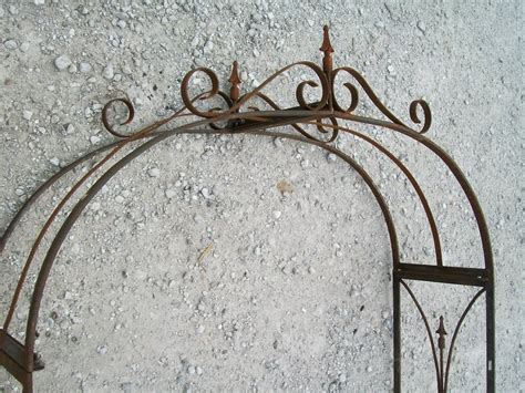 Handmade Wrought Iron - wrought iron handmade lawless arbor