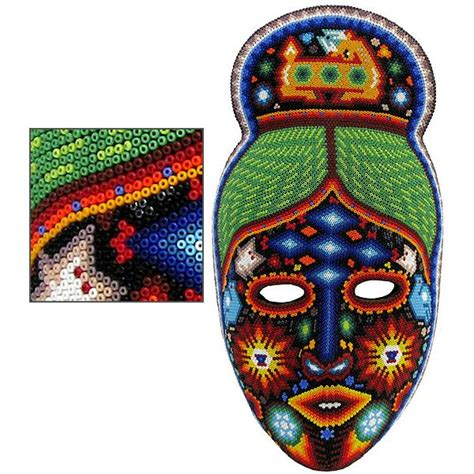 bead mask huichol bead collection huichol mask hmsk110
