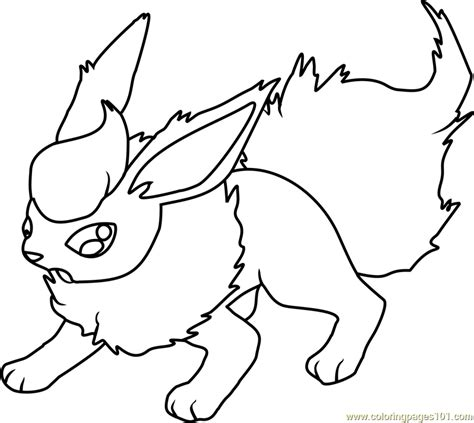 pokemon coloring pages flareon perfect coloring pokemon