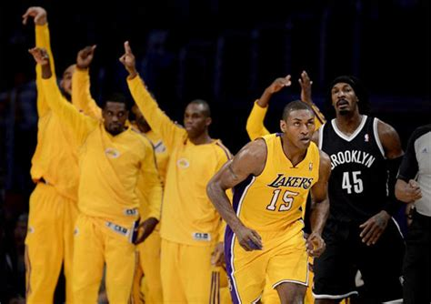 lakers bench lakers seventh best three point shooting team in nba latimes