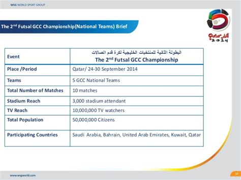 format proposal turnamen futsal gcc national teams under 23 under 17 futsal sponsorhip