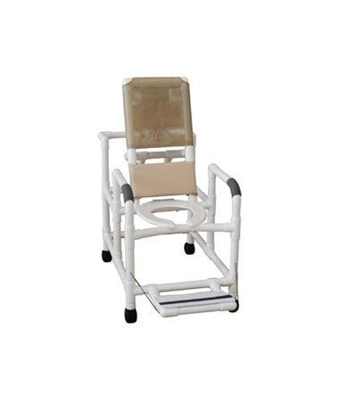 reclining shower chair with footrest mjm reclining shower commode with soft seat save at