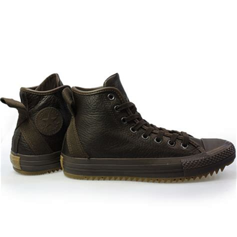 mens brown leather converse boots converse ct hollis hi brown leather mens womens boots