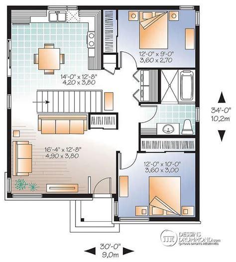 Maison Moderne Minecraft Plan 946 by W3129 Bungalow Plain Pied 233 Conomique Moderne 2 Chambre